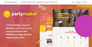 Party Planer Partymaker Event Planner Wedding Agency Wordpress Theme