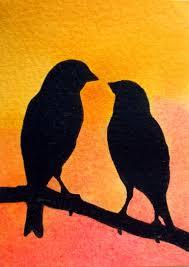 two love bird silhouette. Beautiful Silhouette Two Love Birds Silhouette On Bird E