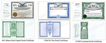 Stock Certificats Goes Lithographing Co Stock Certificates