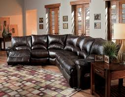 elegant reclining leather sectional sofa alpine chocolate leathermatch reclining sectional sofa collection
