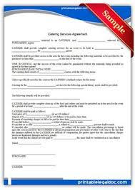 free printable catering services agreement sample printable legal forms wedding catering contract sample