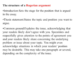 writing to argue or persuade ppt video online  the structure of a rogerian argument