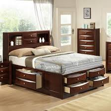 Gorgeous Crown Mark Emily King Captains Bed With Bookcase Headboard Old  Size Q