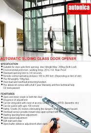 autonica automatic sliding glass door opener