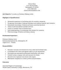 resume sample makeup artist cipanewsletter cosmetologist make up artist resume