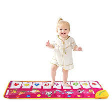 4 · M SANMERSEN Piano Mat, Musical Dance Mat Keyboard Playmat Electronic Music Carpet Blanket for Top 10 Language Toys For 3 Month Old of 2019 | No Place Called Home