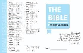 Bible Reading Chart Joseph Ryu