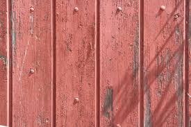 Old Wood Fence with Peeling Red Paint Texture Picture Free