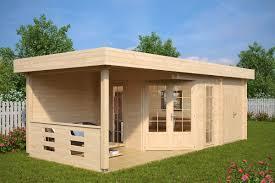 Gartenhaus mit Geräteraum Paula 12,5m² / 40mm / 3x7 - Hansagarten24