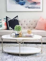 stylish oval farmhouse coffee table