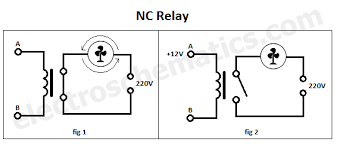 nc spst relay nc normally closed relay
