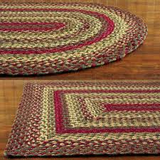 red oval braided rug large area rugs rectangular primitive blue and green decoration handmade country