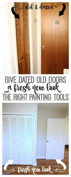 give dated old doors a fresh new look by using the right painting tools for the