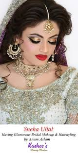 gorgeous indian actress sneha ullal in kashee s stani bridal makeup and hairstyling by kashif aslam at