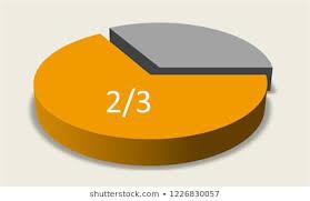 Pie Chart In Thirds Images Stock Photos Vectors
