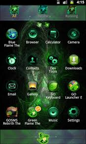Theme Downloads Green Flame Go Theme Android Download