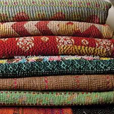 Quality Vintage Kantha Quilt Indian Reversible Pure Cotton Made ... & India Quality Vintage Kantha Quilt Indian Reversible Pure Cotton Made Kantha  Blanket Adamdwight.com