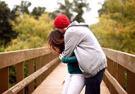 love couple hug mobile sweet photo