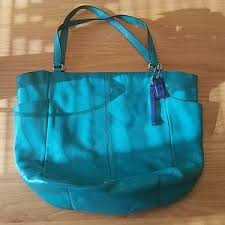 Coach Park Leather North South Double Handle Tote