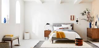 Furniture for bedroom design Interior Rich Woods Crisp White Good Housekeeping Bedroom Inspiration West Elm