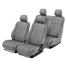 leathercraft leather 1st 2nd row gray seat covers