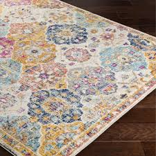 bungalow rose area rug bungalow rose harput orange blue area rug bngl7904 bngl7904