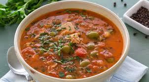 Томатный суп с горбушей и оливками пошаговый рецепт с фото Томатный суп с горбушей и оливками