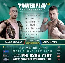 POWERPLAY PROMOTIONS - Steve Moxon Vs Aaron Goodson Powerplay 40   Facebook