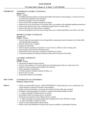 Laundry Attendant Resume Sample Laundry Attendant Resume Samples Velvet Jobs 1