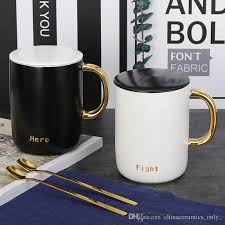 office mug. Ceramic Mug Fine Bone China White Coffee Cup New Original Office Brief To Drink With U