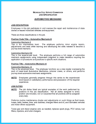 Mechanic Resume For Some People Particularly Starters To Write An Auto Mechanic 29