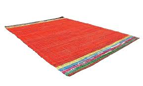 red rag rug area ft rugs cotton carpet the white target blue and woven green red rag rug