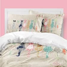 shabby chic bedding cats duvet cover teen bedding shabby chic decor toddler duvet cat duvet king