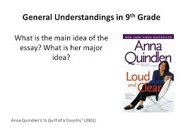 A Quilt of a Country by Anna Quinlen - ppt video online download & 3 General Understandings ... Adamdwight.com