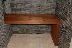 image of shower bench teak