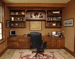 home office bookshelf. Wooden Home Office Bookshelf Closed To Brown Desk With Wood For Household