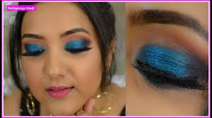 ह द blue smokey eye makeup for indian skin in hindi indian party makeup perkymegs hindi