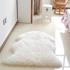 Soft Faux Sheepskin Rug Mat Carpet Pad Anti-Slip Chair Sofa Cover For Bedroom Home Decor Rugs for Fur Anti Slip