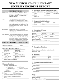 Security Incident Report Form New Mexico Download