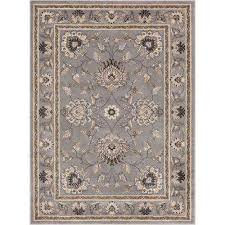 timeless abbasi gray 8 ft x 11 ft traditional area rug