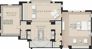 master bathroom floor plans. Exellent Master The 235squarefoot Master Bath Features Dual Floating Vanities A Spacious  Spa Tub And An Oversize Shower Surrounded By Frameless Glass To Master Bathroom Floor Plans R