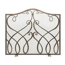 uniflame bronze fireplace screen and tools with doors oil rubbed bronze fireplace screen finish screens wazee panel with doors