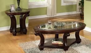 Coffee Table End Tables Dark Wood Coffee Table Comfy Gray Sofa Dark Finish Hardwood Bun