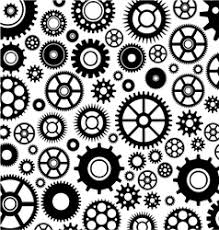 Gear Pattern Simple Pattern Silhouette Cut Gears Royalty Free Vector Image
