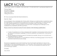 Sample Plumbing Cover Letter Groundskeeper Cover Letter Sample Cover Letter Templates Examples