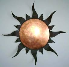 metal sun wall hanging and moon art outdoor love celestial plaque meta