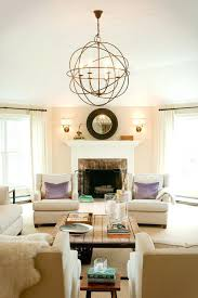 2 story family room chandelier ceiling