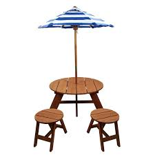 kids table umbrella kids 4 piece wood round table and chair set with umbrella maroon kids picnic table umbrella