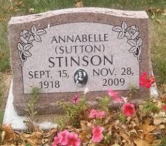 Annabelle Sutton Stinson (1918-2009) - Find A Grave Memorial