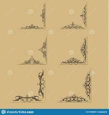 Swirl Design Co Swirl Floral Design Set Stock Vector Illustration Of